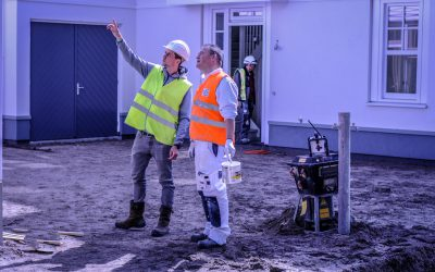 Op inspectie bij Duineveld in Noordwijk met projectleider Sebastian